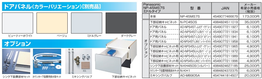 Panasonic NP-45MS7S 機能2