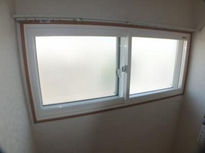 クレセント引き違い窓施工後