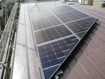 太陽光発電システム 施工後