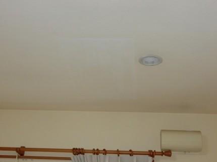 天井 仕上げ塗り 1時間後