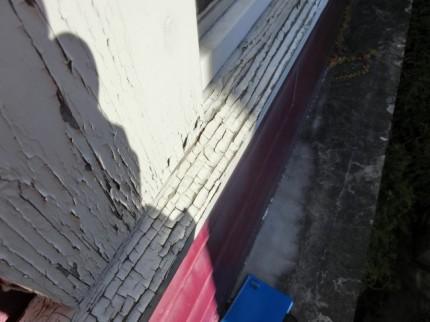 木窓枠塗装剥がれ