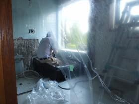 浴槽工事の現場確認