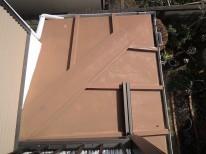 下屋根塗装前