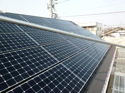 太陽光発電システム 片流れ屋根
