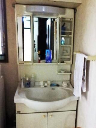クリナップ ファンシオ 洗面化粧台リフォーム 施工前