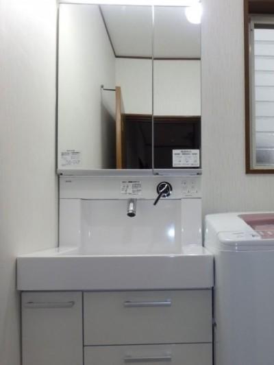 洗面化粧台リフォーム TOTO KZシリーズ