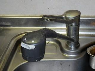 三栄 台所水栓 K87120JV-13 施工前