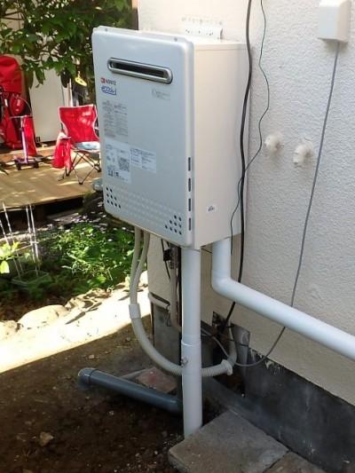 ガス給湯器交換工事 ノーリツ GT-C1652SAWX-2BL-13A 施工後
