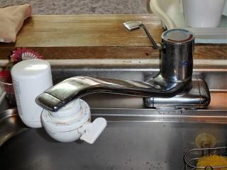 SANEI K87120JV キッチン水栓交換 施工前