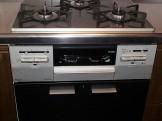 ガスコンロ交換 キャビネット設置 RX31W20A31DW-13A 施工後