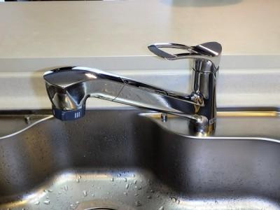 キッチン水栓交換 三栄 K87120JV-13 施工後