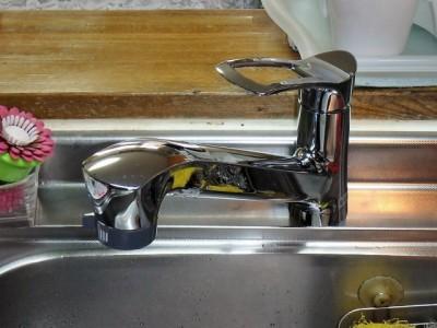 SANEI K87120JV キッチン水栓交換 施工後