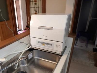 Panasonic 据置型食洗器 NP-TCR3 施工後