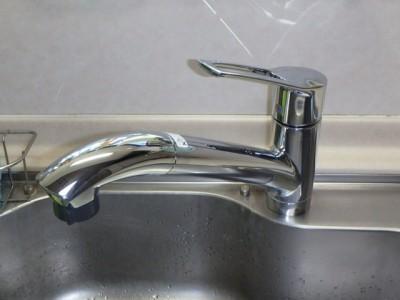 キッチン用シャワー水栓 KVK KM5031TCL 施工後