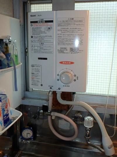 リンナイ 瞬間ガス湯沸かし器 RUS-V51XT(WH)13A 施工後