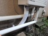 給湯器の配管接続 施工後