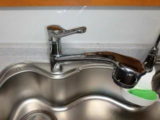 三栄(SANEI) キッチン水栓交換 K87120JV-13 施工前