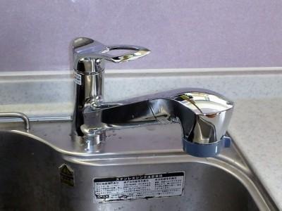 三栄水栓製作所 台所水栓 K87120JV-13 施工後
