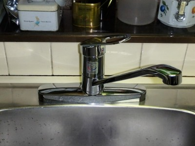 TOTO キッチン用水栓 TKGG33E 施工後