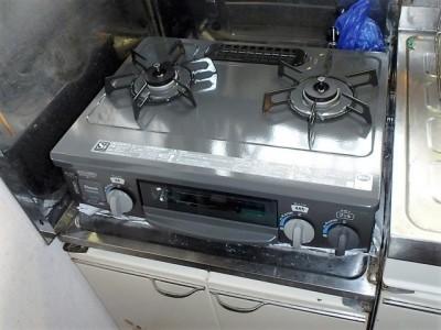 リンナイ 据置型ガスコンロ交換 KGM563DGR13A 施工後