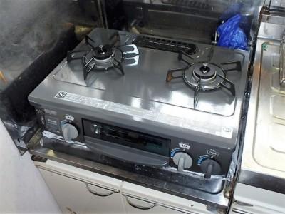 据置型ガスコンロ リンナイ KGM563DGR13A 施工後