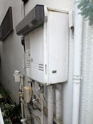 ノーリツ ガス給湯器 HCT-C2452SAWX-2BL13A 施工前