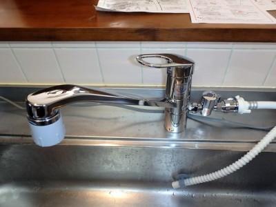 分岐対応型水栓 TOTO TKGG31ECH 施工後