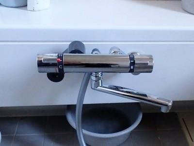 SANEI サーモシャワー混合栓 SK18520S9-13 施工後