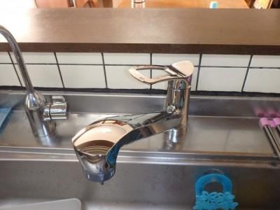 キッチン水栓交換 三栄 K87120JV