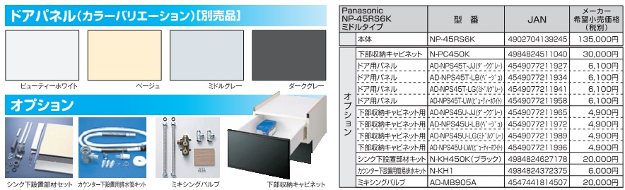 Panasonic NP-45RS6K 機能2